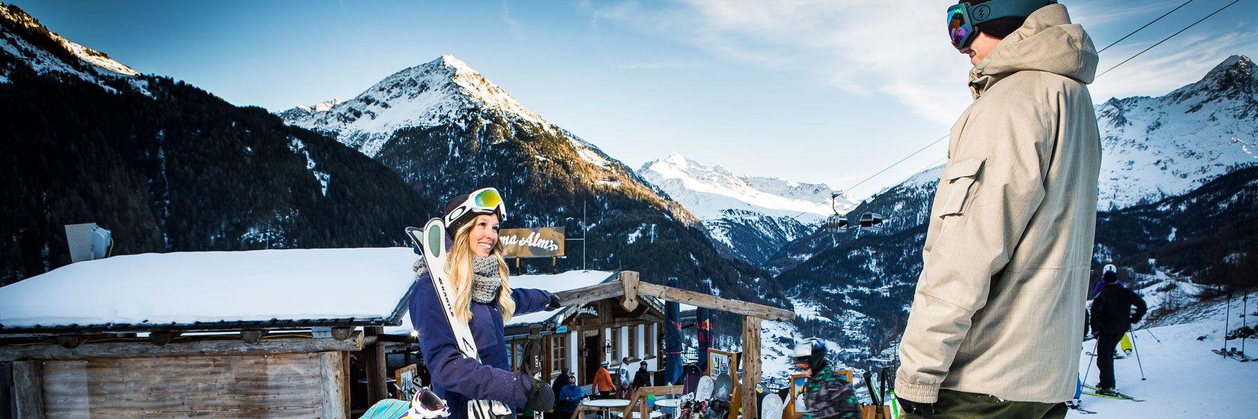 Skispaß in Skigebiet Sölden